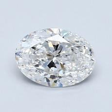 Piedra recomendada 1: Talla ovalada de 1.01 quilates