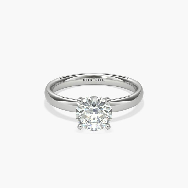 Classic Comfort Fit Solitaire Engagement Ring in 14k White Gold (2 5mm) |  Blue Nile
