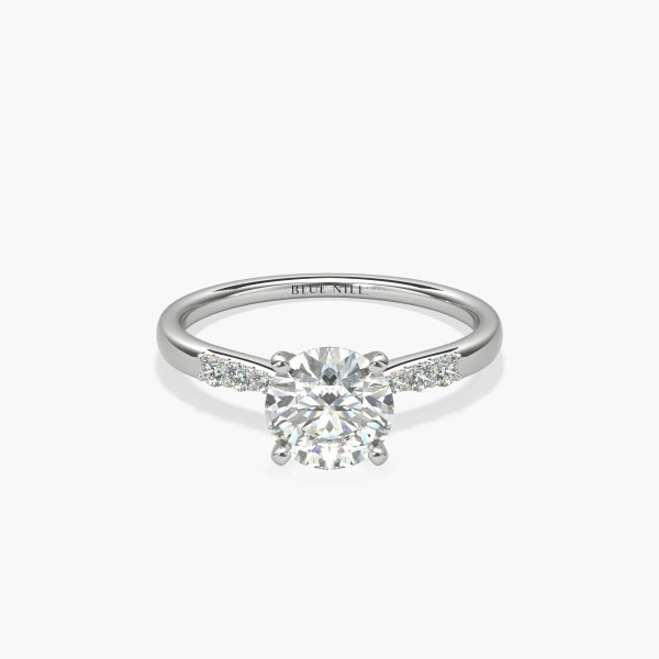 1 Carat Ready-to-Ship Petite Diamond Engagement Ring in 14k White Gold