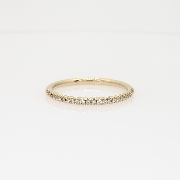 Petite Micropavé Diamond Ring in 14k Yellow Gold