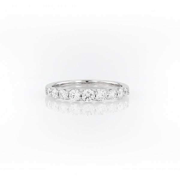 Bague diamant graduée en or blanc 14 carats