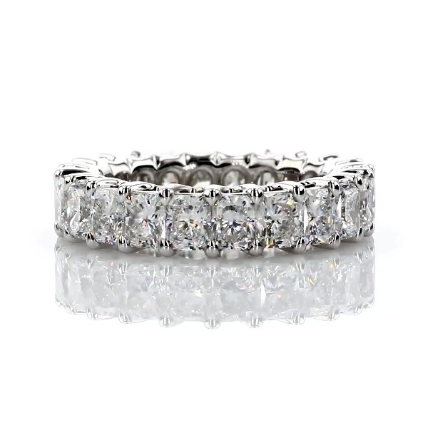 Regal Radiant-Cut Diamond Eternity Ring in Platinum - G/SI1 (5.06 ct tw)
