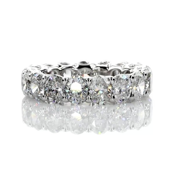 Regal Oval-Cut Diamond Eternity Ring in Platinum - G/SI1 (5.1 ct. tw.)