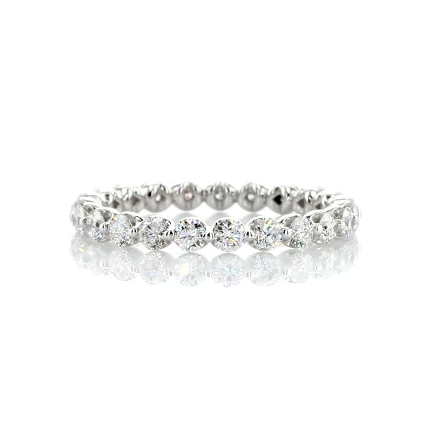 Floating Diamond Eternity Band in 14k White Gold (1 ct. tw.)