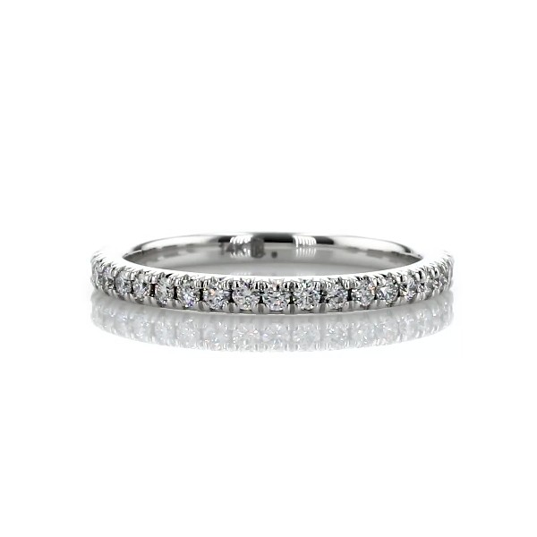French Pavé Diamond Eternity Ring in 14k White Gold (1/2 ct. tw.)