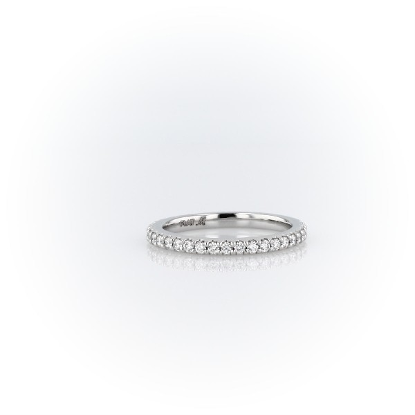 Monique Lhuillier Scalloped Pave Diamond Ring in Platinum (1/3 ct. tw.)