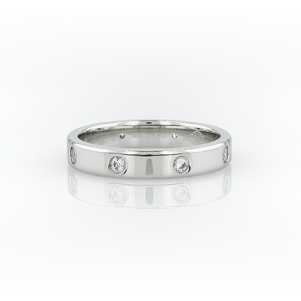 ring band tw in bands eternity platinum blue ct diamond nile classic