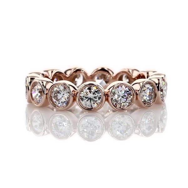 Bezel-Set Diamond Eternity Ring in 14k Rose Gold (2 ct. tw.)