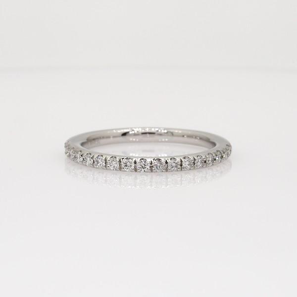 Monique Lhuillier Pavé Diamond Ring in Platinum (1/5 ct. tw)