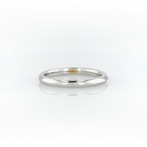 ZAC Zac Posen Knife-Edge Wedding Ring in Platinum