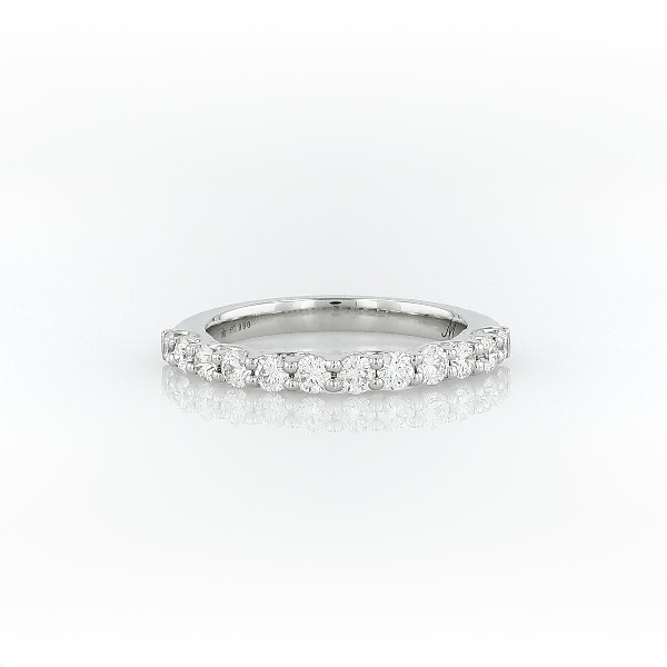 鉑金 Monique Lhuillier Adoration 鑽石戒指(1/2 克拉總重量)