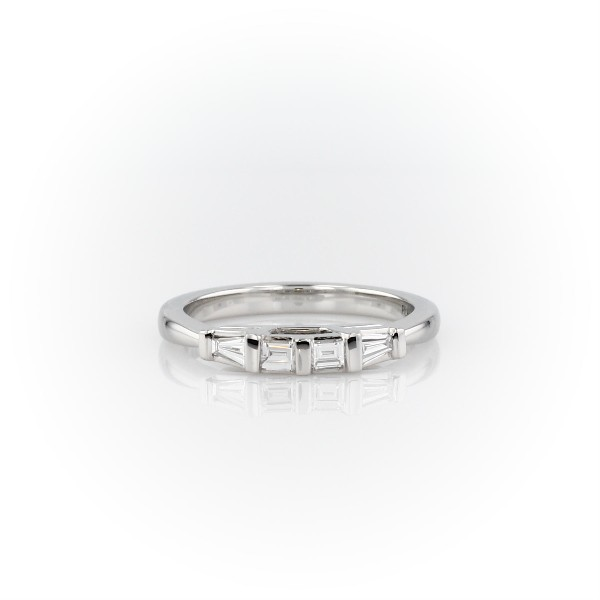 Classic Tapered Baguette Diamond Ring in Platinum