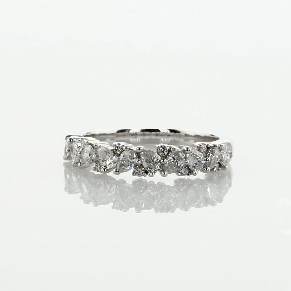 Pear Diamond Cluster Wedding Ring in 14k White Gold- I/SI2 (1/2 ct. tw.)