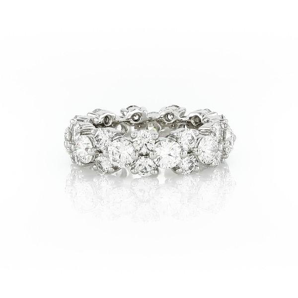 鉑金花環鑽石永恆戒指(5 克拉總重量)