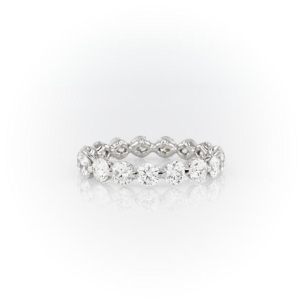 Bague d'éternité diamant flottant en platine (2,08carats, poids total)