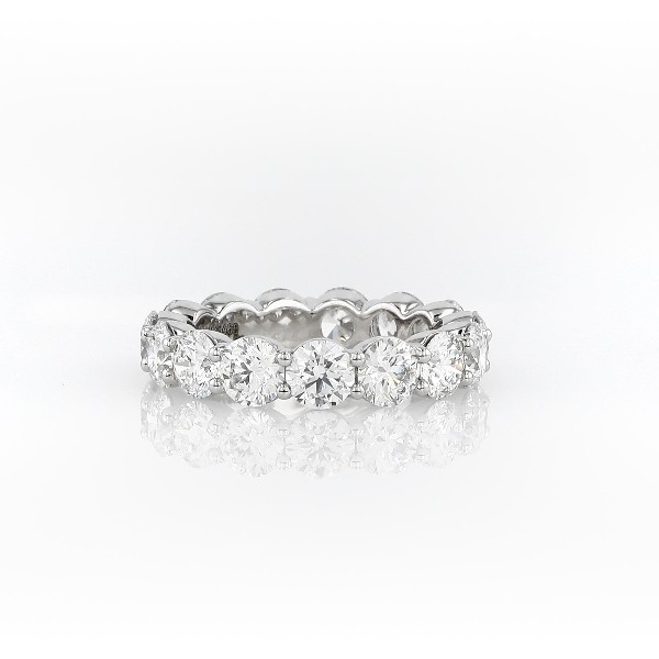 Blue Nile Signature Comfort Fit Diamond Eternity Ring in Platinum (4 5/8 ct. tw.)