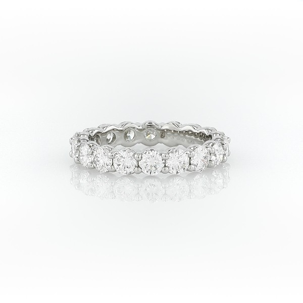 ring cut band wedding topleftview platinum cushion eternity t d carats ct w bands whitegold diamond