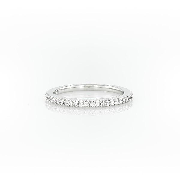 Pavé Diamond Wedding Ring in Platinum (1/6 ct. tw.)