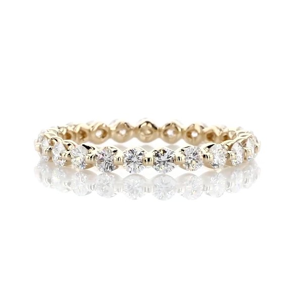 Floating Diamond Eternity Ring in 14k Yellow Gold - I/SI2 (1 ct. tw.)