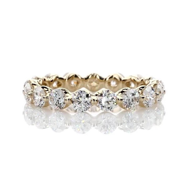 Floating Diamond Eternity Ring in 14k Yellow Gold - I/SI2  (2 ct. tw.)