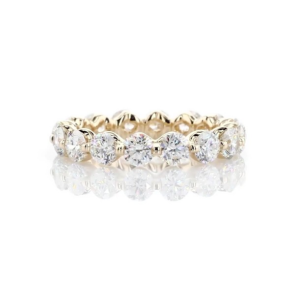 Floating Diamond Eternity Ring in 14k Yellow Gold - I/SI2  (3 ct. tw.)