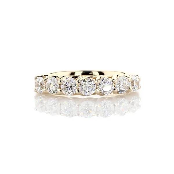 Alliance sept pierres en diamant Tessere en or jaune 14carats - I/SI2 (1carat, poids total)