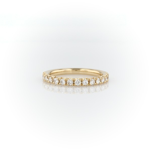 French Pavé Diamond Wedding Ring in 14k Yellow Gold - I/SI2 (0.3 ct. tw.)