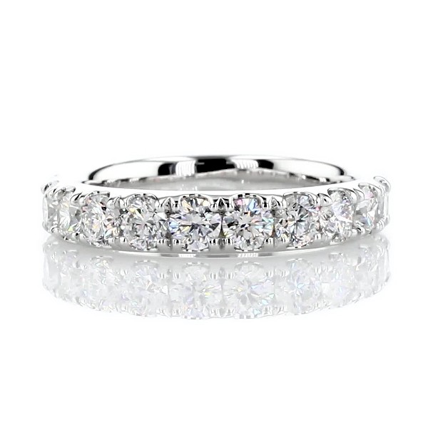 Riviera Pavé Diamond Ring in 14k White Gold (1 ct. tw.)