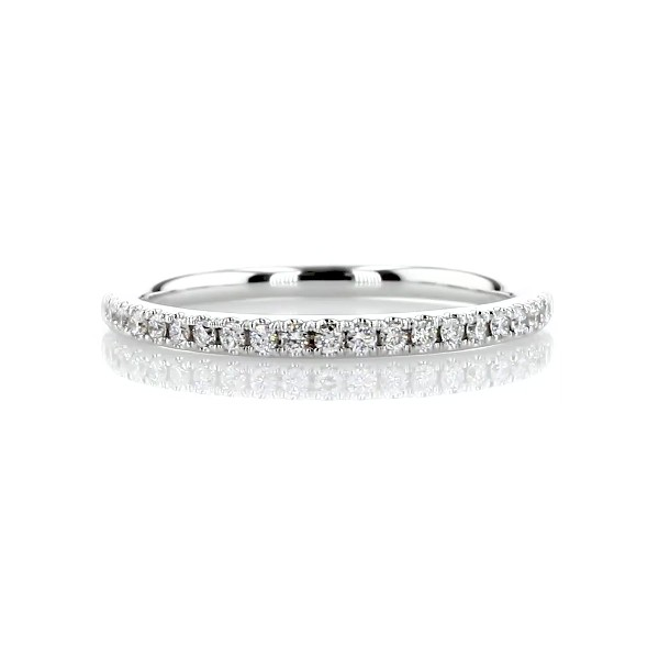 Riviera Pavé Diamond Ring in 14k White Gold (1/6 ct. tw.)