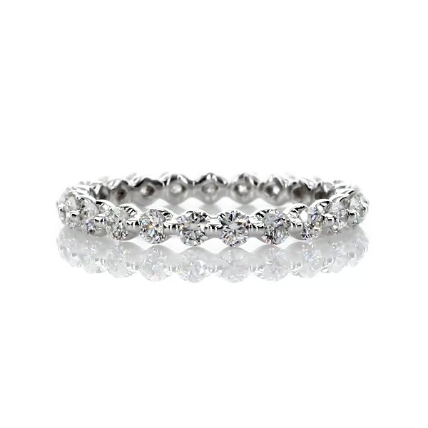 Floating Diamond Eternity Ring in 14k White Gold - I/SI2 (0.95 ct. tw.)