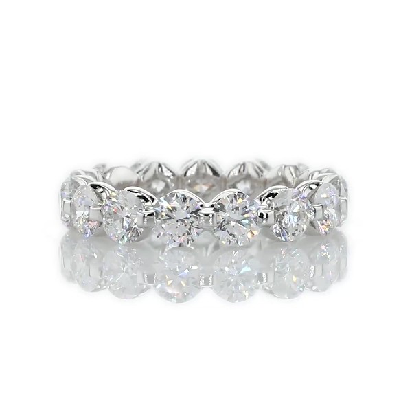 Floating Diamond Eternity Ring in 14k White Gold - I/SI2 (2.95 ct. tw.)