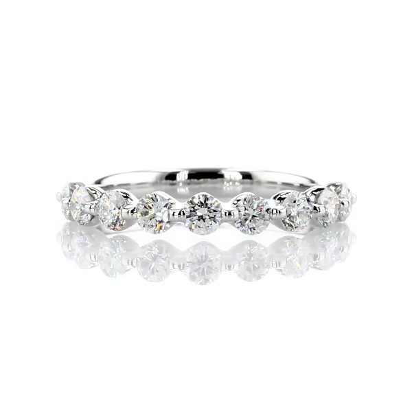 Floating Diamond Wedding Ring in 14k White Gold - I/SI2 (0.70 ct. tw.)