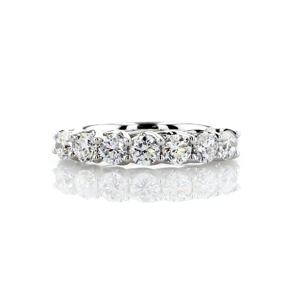 Tessere Seven Stone Diamond Wedding Ring in 14k White Gold - I/SI2 (0.95 ct. tw.)