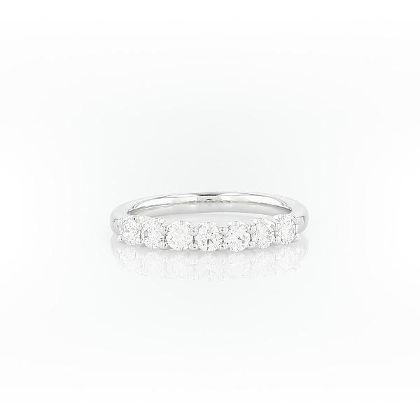 Lunaセブンストーンダイヤモンドリング  ( K14ホワイトゴールド )(合計1/2カラット)
