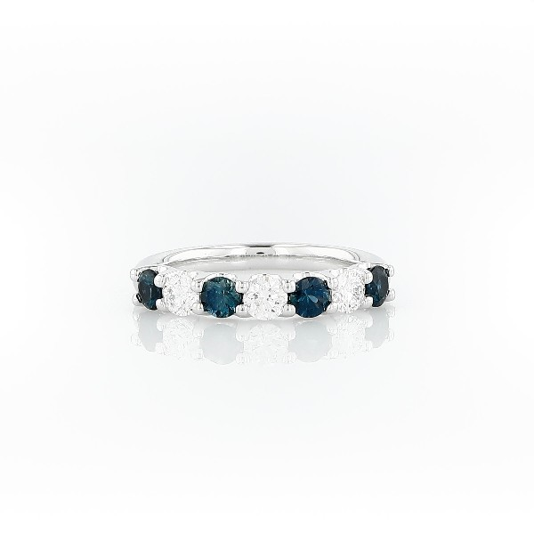 Luna Seven Stone Sapphire and Diamond Ring in Platinum