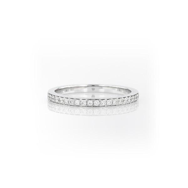 Verona Petite Pavé Diamond Ring in 14k White Gold