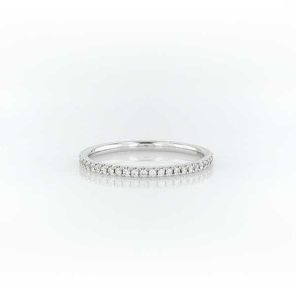 Riviera Petite Micropavé Diamond Eternity Ring in 14k White Gold (1/4 ct. tw.)