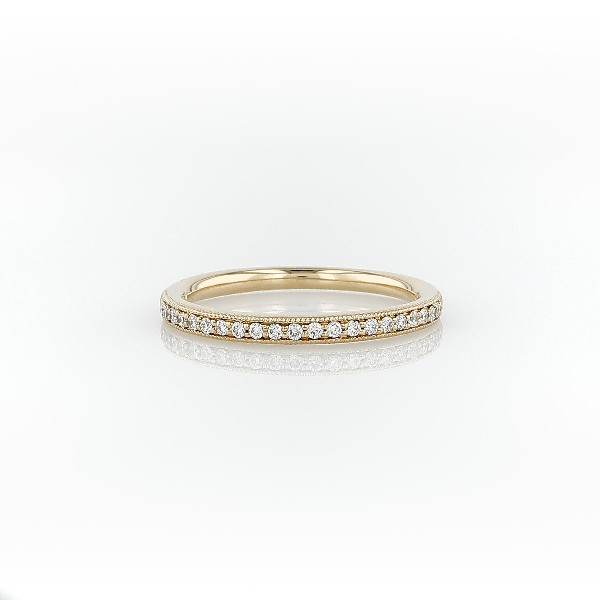 Riviera Pavé Heirloom Diamond Ring in 18k Yellow Gold (0.13 ct. tw.)