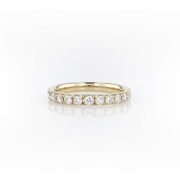 18k 金 Riviera 密钉钻石戒指(1/2 克拉总重量)