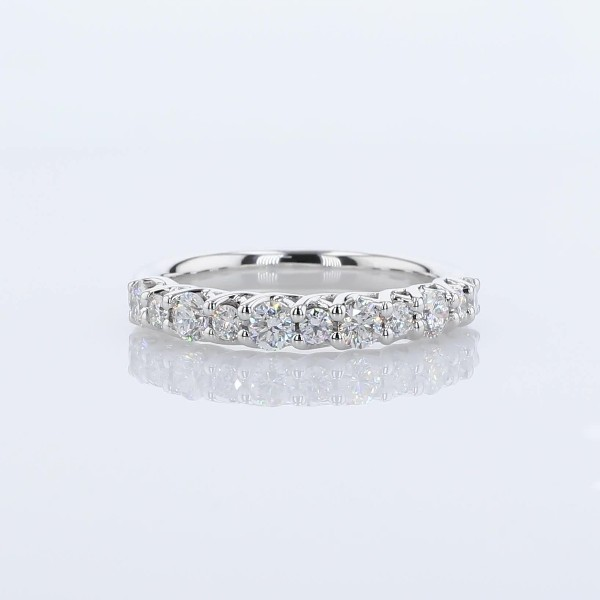 Anillo de bodas con diamantes Tessere alternados en  Oro blanco de 18 k- H/VS2 (3/4 qt. total)