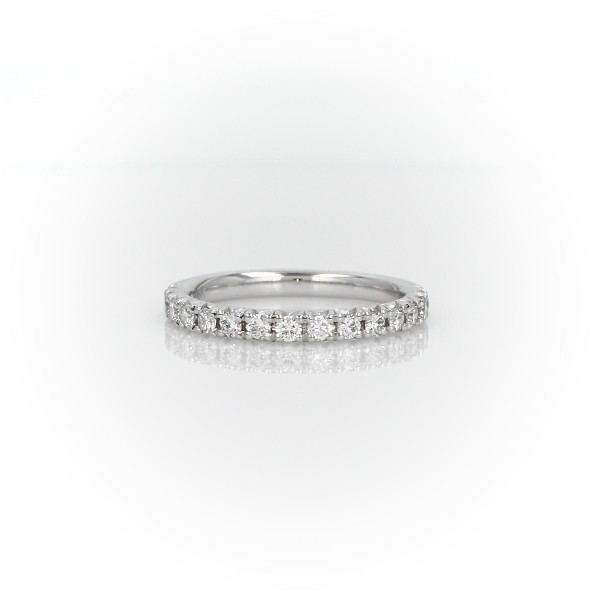 18k 白金法式密钉钻石戒指 - H/VS2 (1/3 克拉总重量)