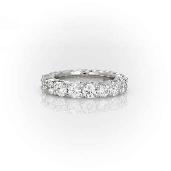Tessere Weave Diamond Eternity Ring in 18k White Gold (2.95 ct. tw.)