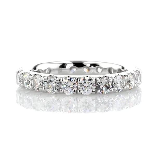 Riviera Pavé Diamond Eternity Ring in Platinum (2 ct. tw.)