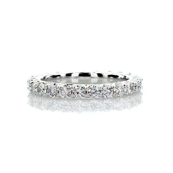 Anillo de eternidad de diamantes con tejido Tessere en platino (1 qt. total)