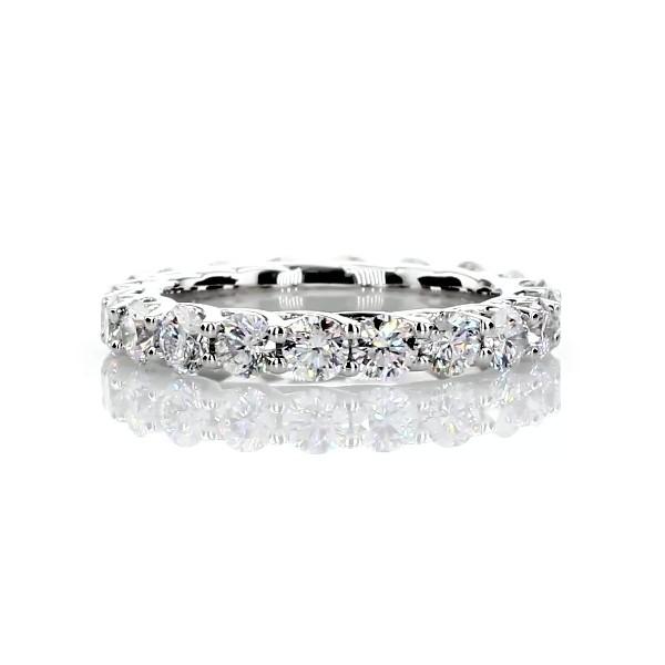 铂金 Tessere Weave 钻石永恒戒指(2 克拉总重量)