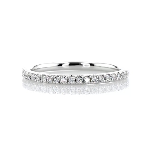 Riviera Pavé Diamond Ring in Platinum (1/6 ct. tw.)
