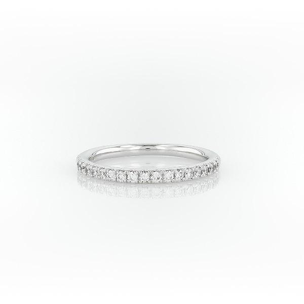 铂金 Riviera 密钉钻石戒指(1/4 克拉总重量)