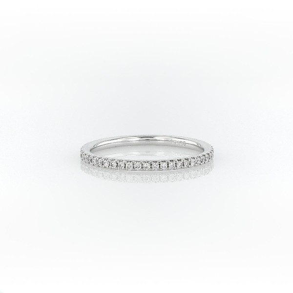 Riviera Petite Micropavé Diamond Eternity Ring in Platinum (0.21 ct. tw)