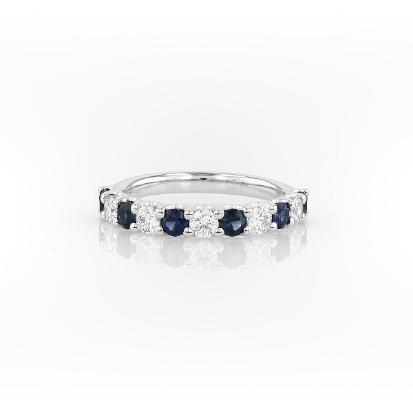 Luna Sapphire and Diamond Ring in Platinum (2.8mm)