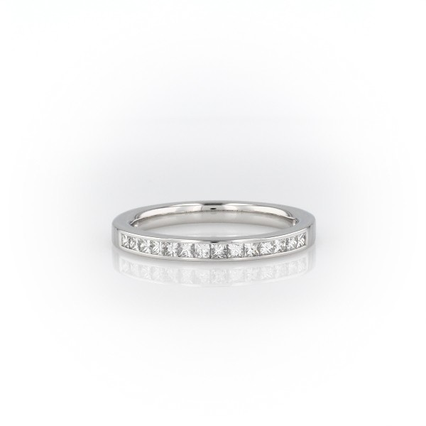 Channel Set Princess Cut Diamond Ring in Platinum